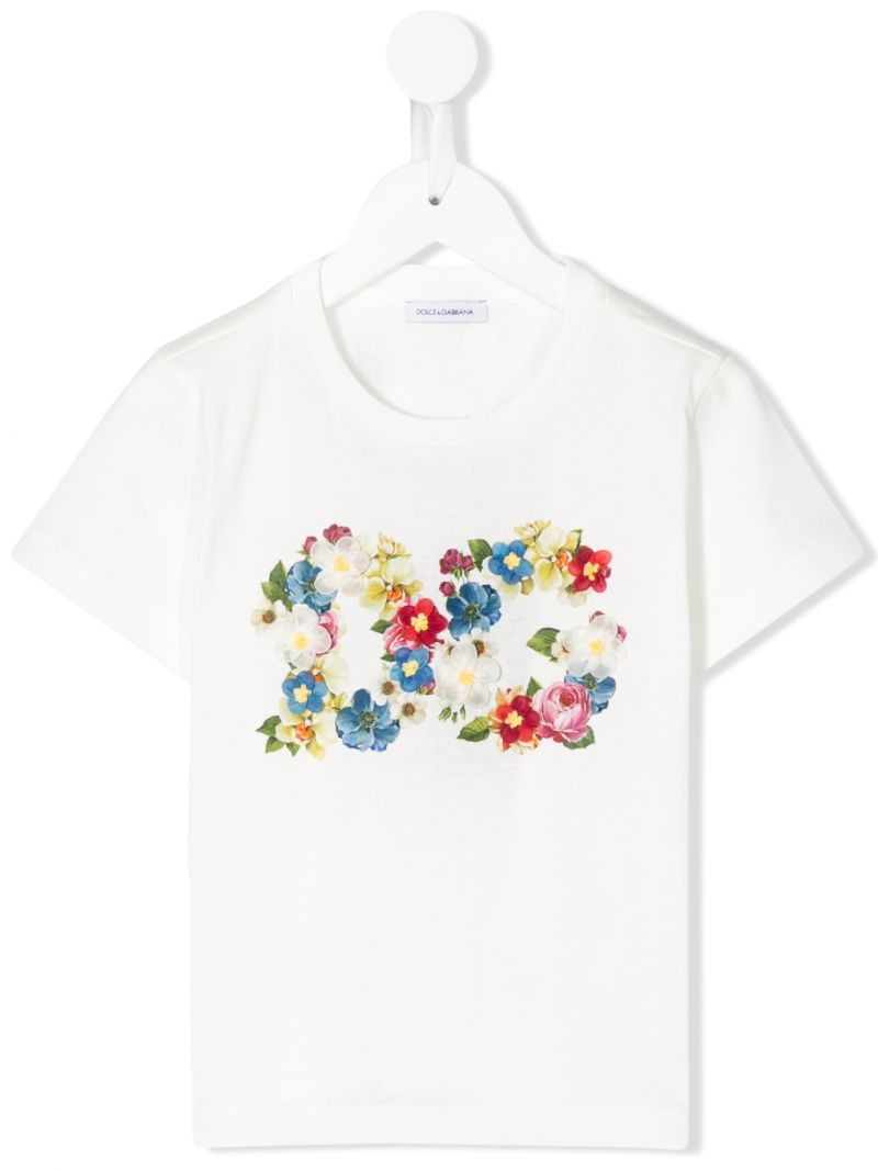 DOLCE & GABBANA CHILDREN: DG print cotton t-shirt Color Multicolor_1
