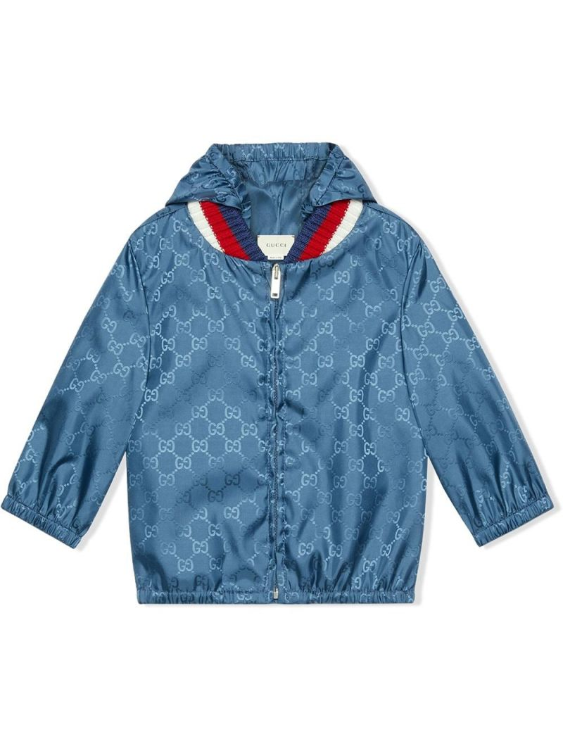 GUCCI CHILDREN: GG nylon bomber jacket Color Purple_1