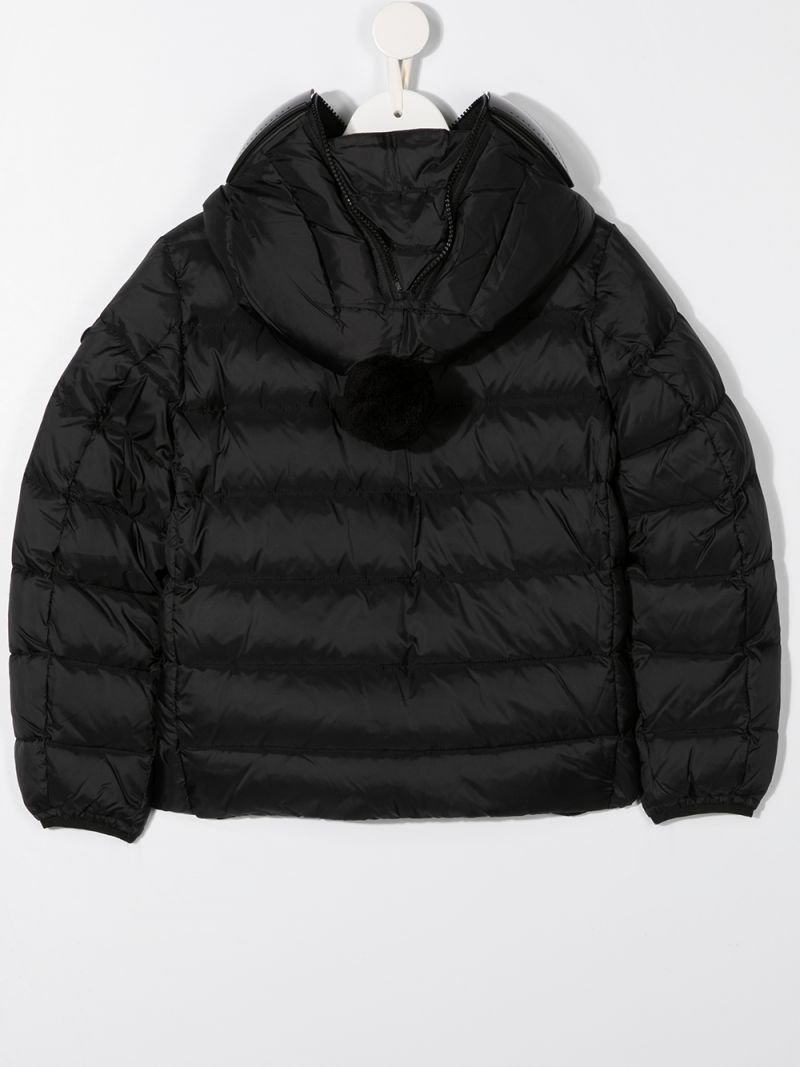 AI RIDERS ON THE STORM KIDS: PVC lenses-detailed nylon down jacket Color Black_2