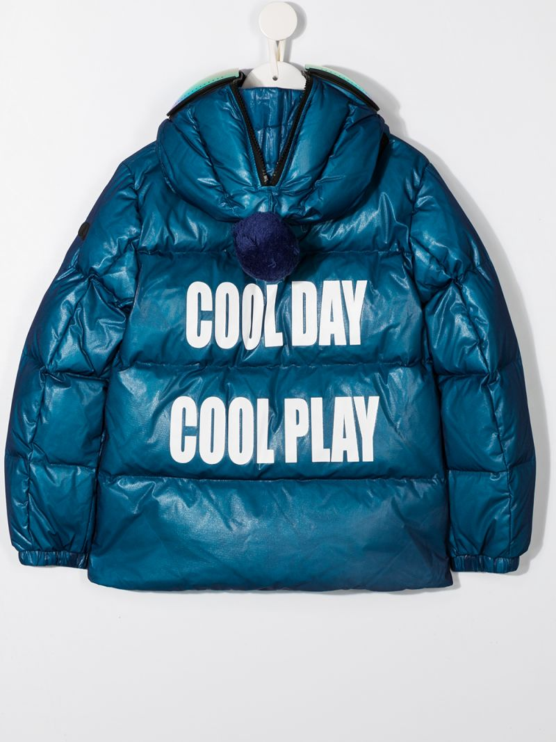 AI RIDERS ON THE STORM KIDS: Cool Day Cool Play print nylon down jacket_2