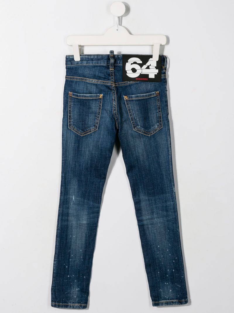 DSQUARED2 KIDS: Clement jeans with distressed effect Color Blue_2