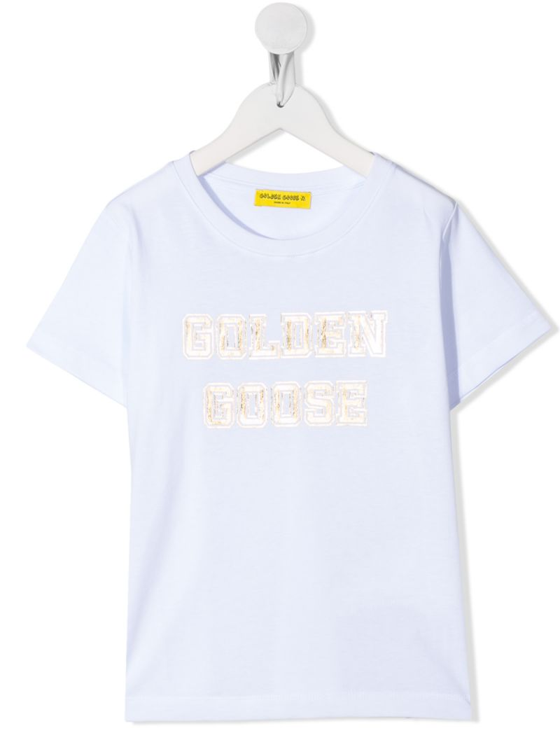 GOLDEN GOOSE DELUXE BRAND KIDS: Venice cotton t-shirt Color White_1