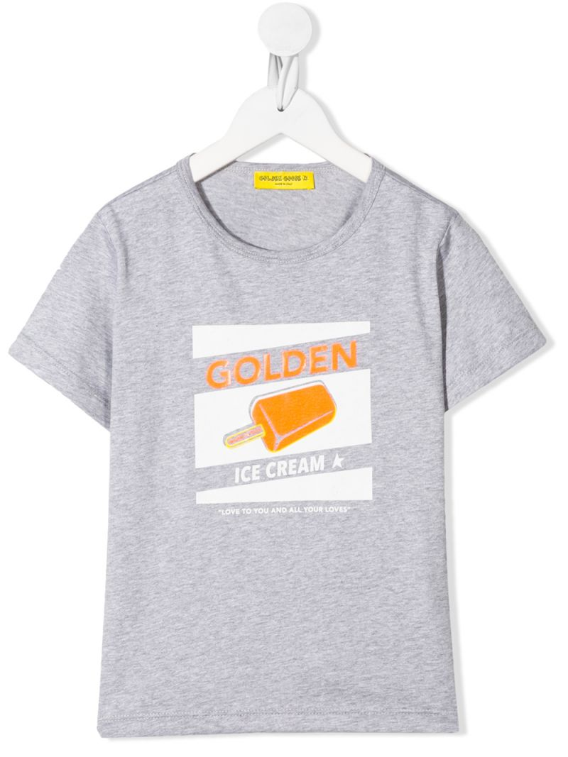GOLDEN GOOSE DELUXE BRAND KIDS: t-shirt in cotone stampa Ice Cream Colore Multicolore_1