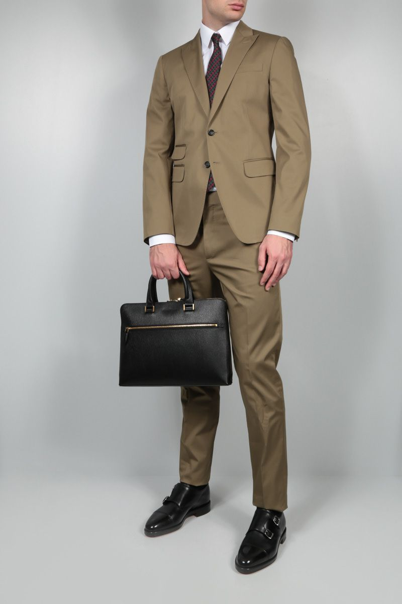 DSQUARED2: stretch cotton two-piece suit_2