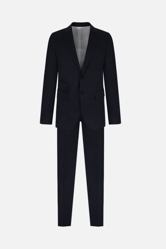 DSQUARED2: stretch cotton two-piece suit Color Blue_1