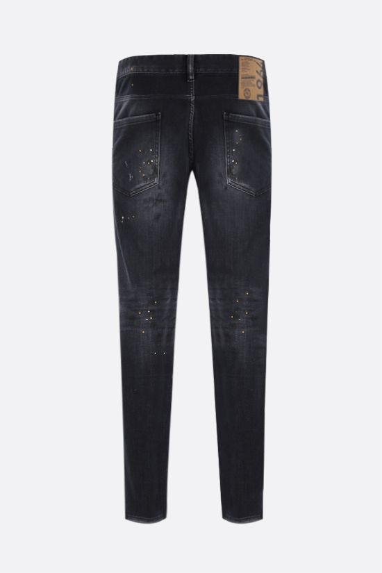 DSQUARED2: Skater distressed-effect jeans Color Black_2