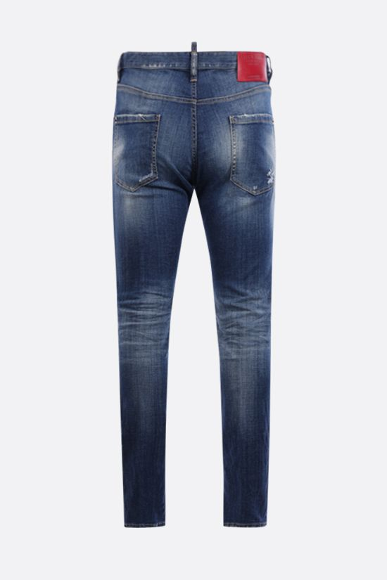 DSQUARED2: Cool Guy distressed effect jeans Color Blue_2