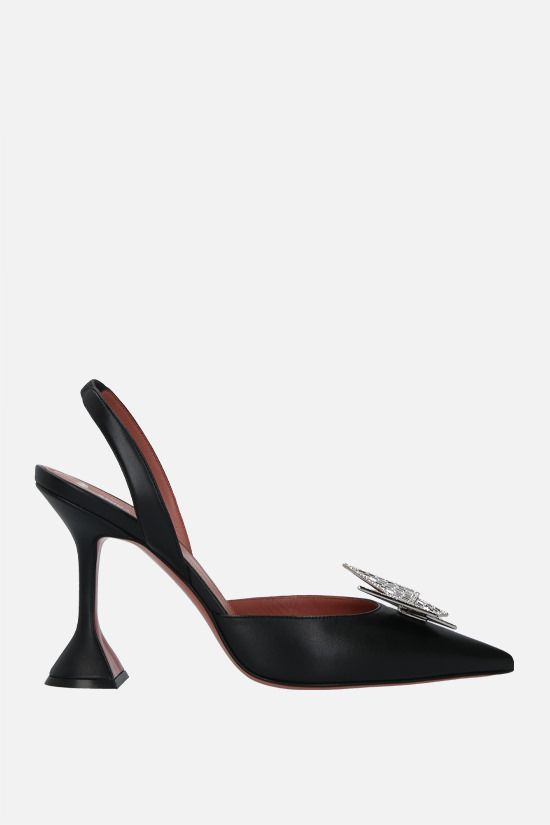AMINA MUADDI & AWGE: Phoenix soft nappa slingbacks Color Black_1