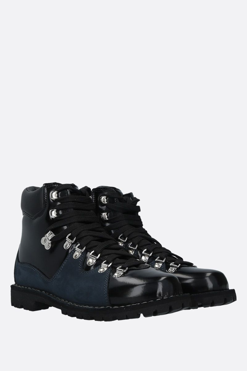 CECILIE BAHNSEN: brushed leather and suede hiking boots Color Black_2