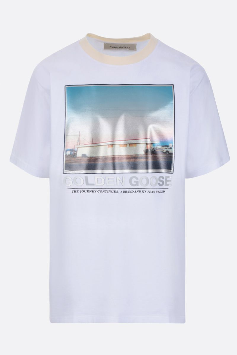 GOLDEN GOOSE DELUXE BRAND: Parker cotton t-shirt Color White_1