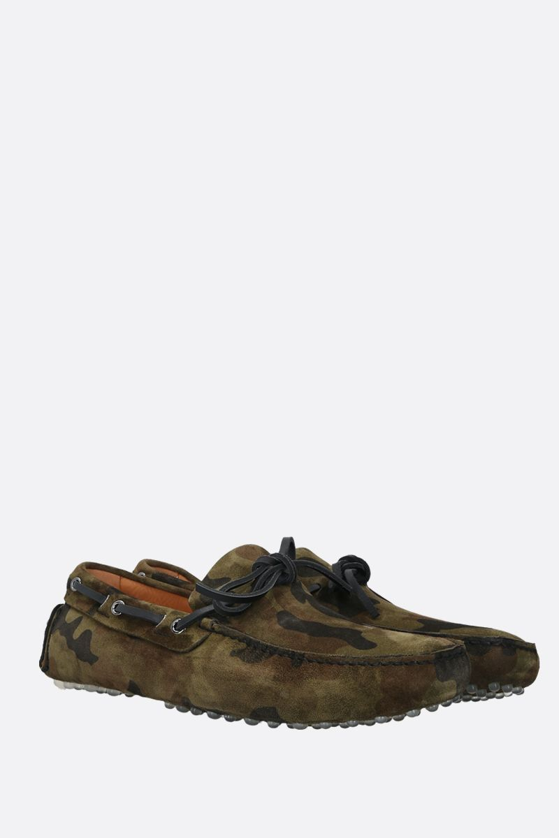 CAR SHOE: camouflage suede driving loafers Color Animalier_2