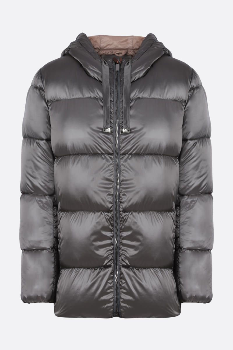 MAX MARA THE CUBE: Spacey shiny nylon down jacket Color Grey_1