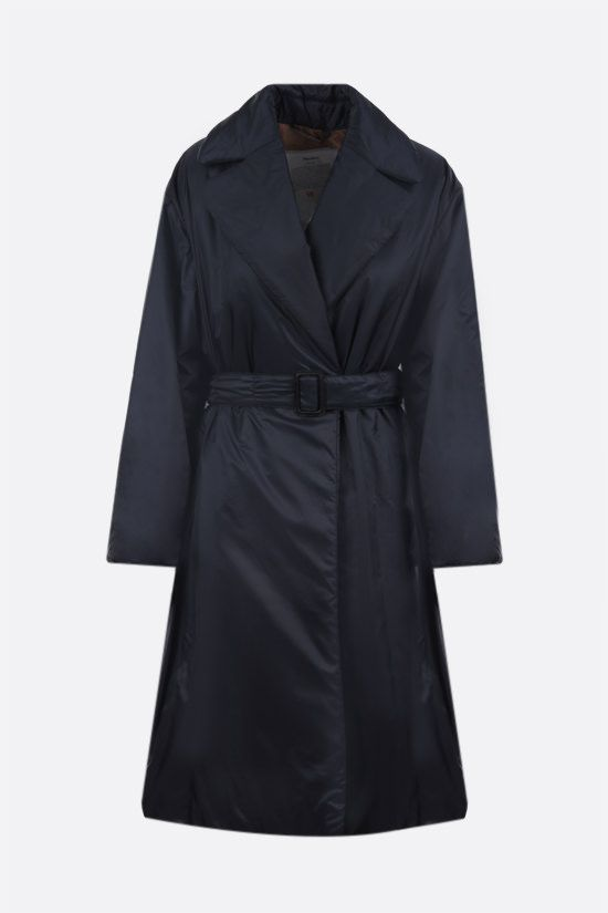 MAX MARA THE CUBE: Greenco padded nylon double-breasted coat Color Blue_1