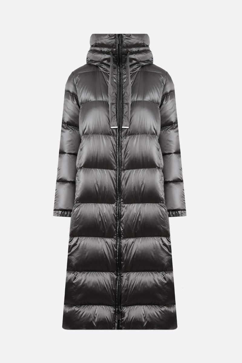 MAX MARA THE CUBE: Space shiny nylon down jacket Color Grey_1