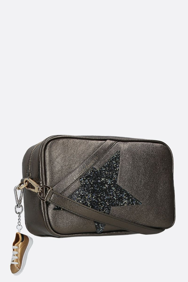 GOLDEN GOOSE DELUXE BRAND: Star laminated leather crossbody bag Color Green_2