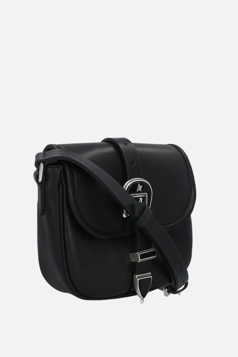 GOLDEN GOOSE DELUXE BRAND: Rodeo small smooth leather shoulder bag Color Black_2