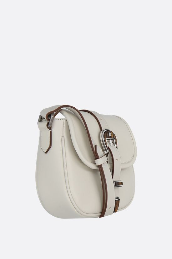GOLDEN GOOSE DELUXE BRAND: Rodeo small smooth leather shoulder bag Color White_2