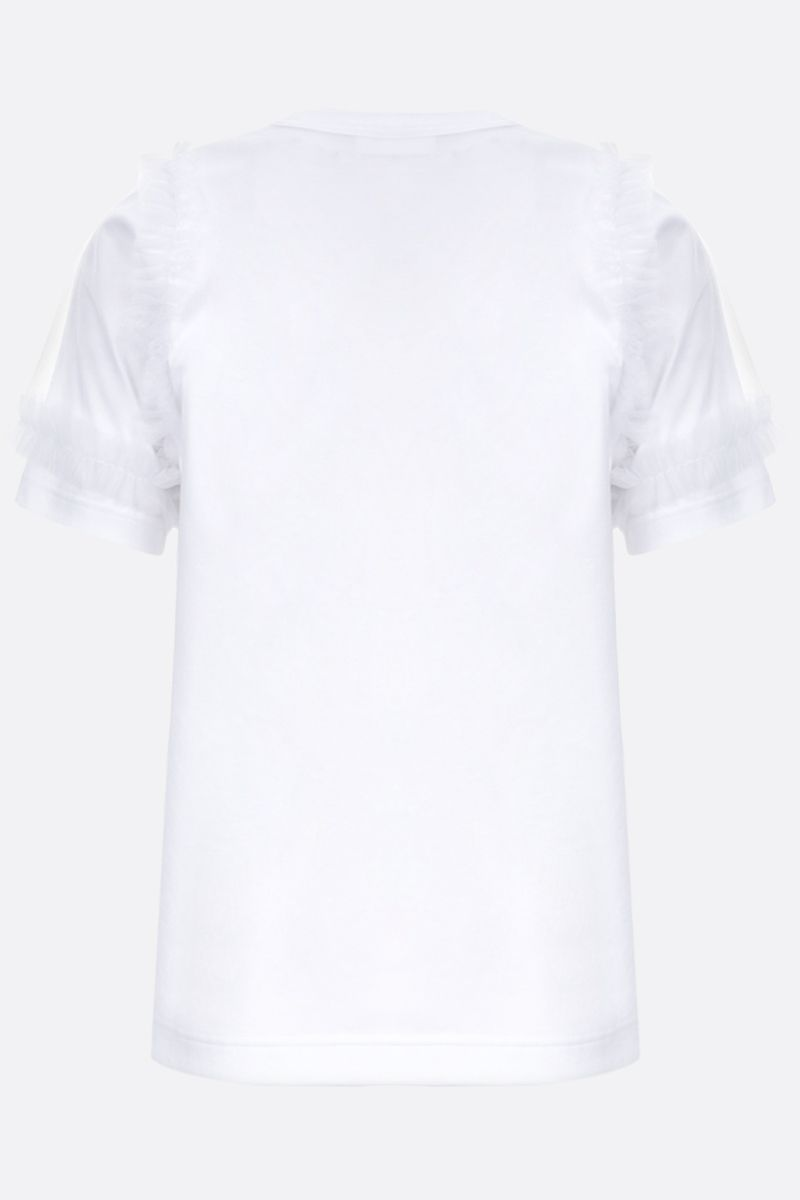 COMME des GARCONS NOIR KEI NINOMIYA: t-shirt in cotone con rouches Colore White_2