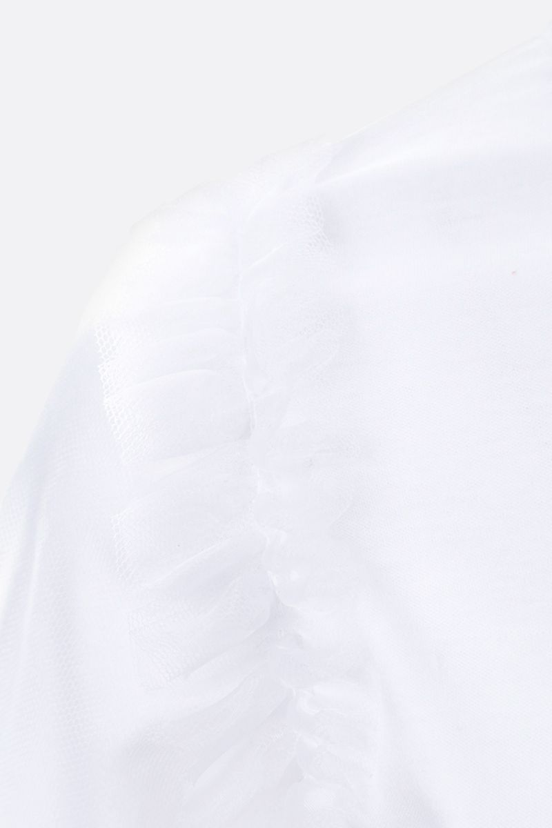COMME des GARCONS NOIR KEI NINOMIYA: t-shirt in cotone con rouches Colore White_3