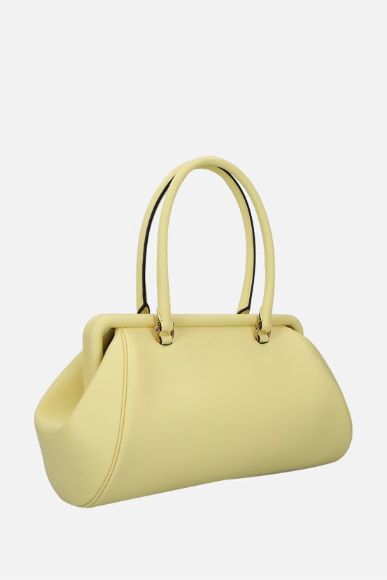 SALVATORE FERRAGAMO: Frame smooth leather handbag Color Yellow_2
