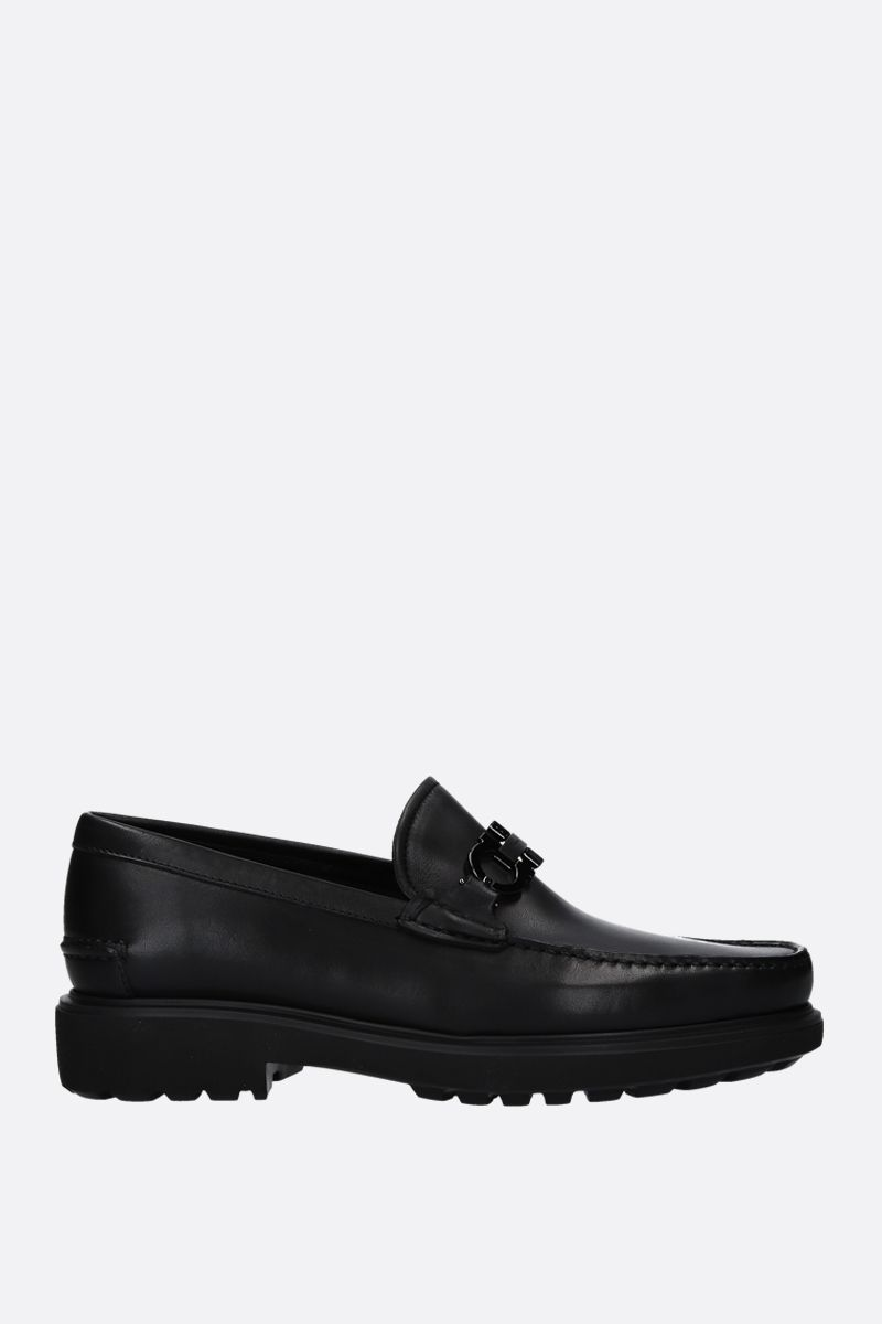 SALVATORE FERRAGAMO: Gotham loafers in smooth leather Color Black_1