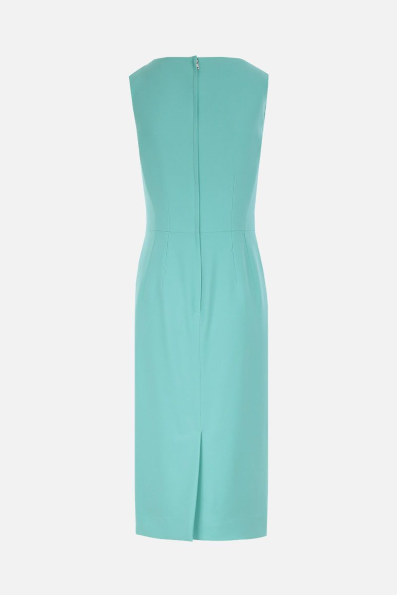 DOLCE & GABBANA: stretch cady midi dress Color Green_3