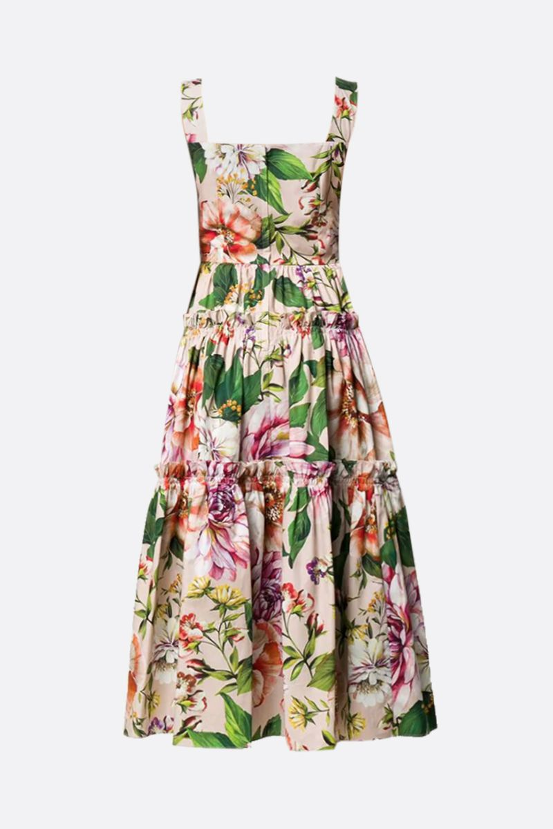 DOLCE & GABBANA: floral printed cotton midi dress_2