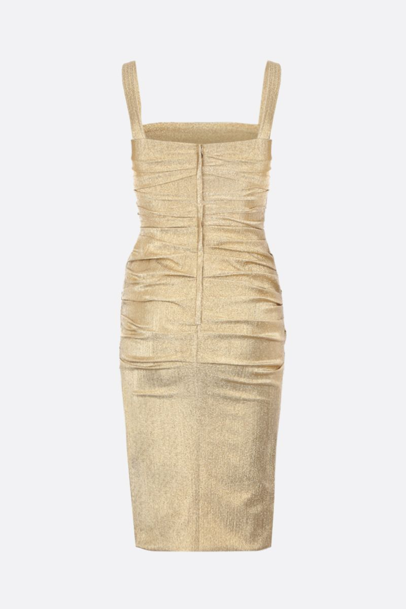 DOLCE & GABBANA: lurex draped dress Color Gold_2