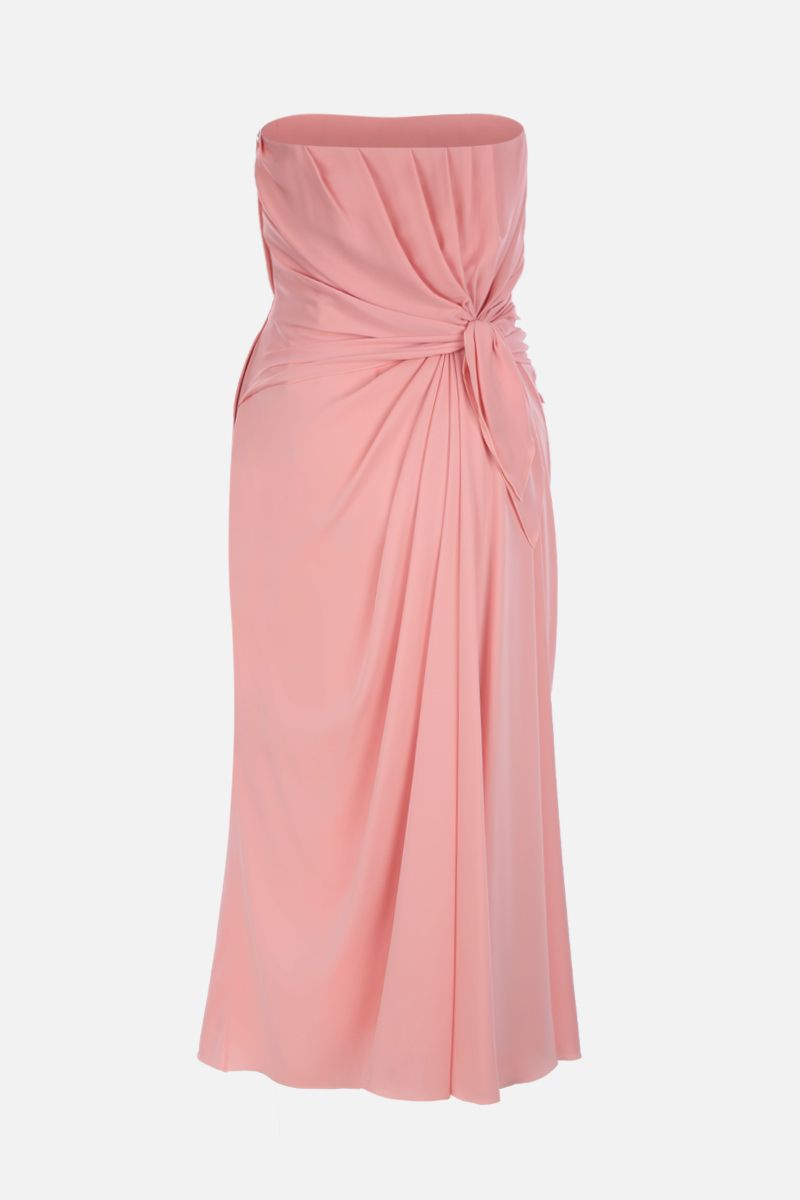 DOLCE & GABBANA: silk charmeuse bustier dress Color Pink_2