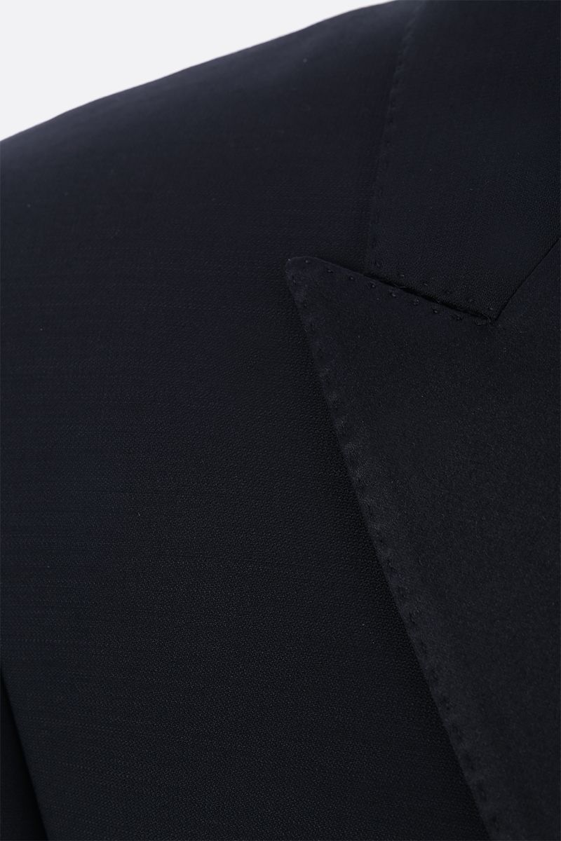 DOLCE & GABBANA: lightweight wool tuxedo suit Color Black_11