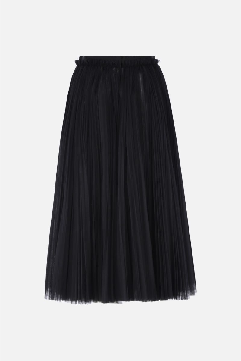 DOLCE & GABBANA: circle skirt in pleated tulle Color Black_2