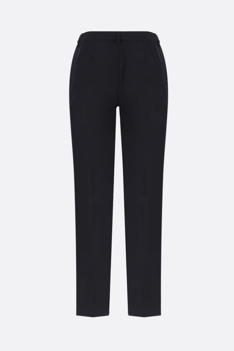 DOLCE & GABBANA: stretch wool slim-fit pants Color Black_2