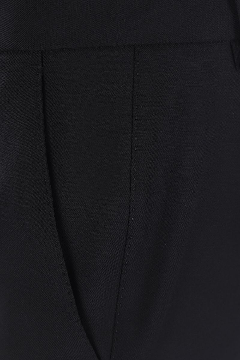 DOLCE & GABBANA: stretch wool slim-fit pants Color Black_3