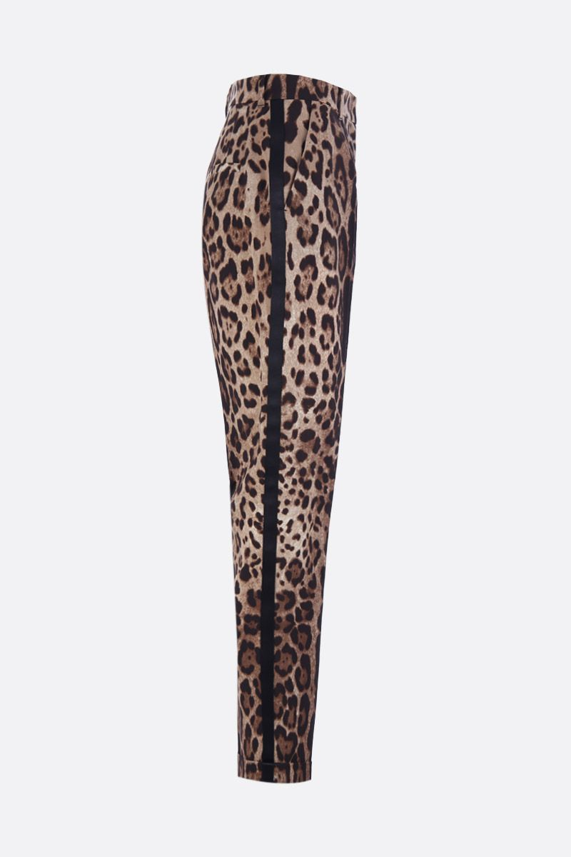 DOLCE & GABBANA: leopard print wool and silk pants Color Animalier_2
