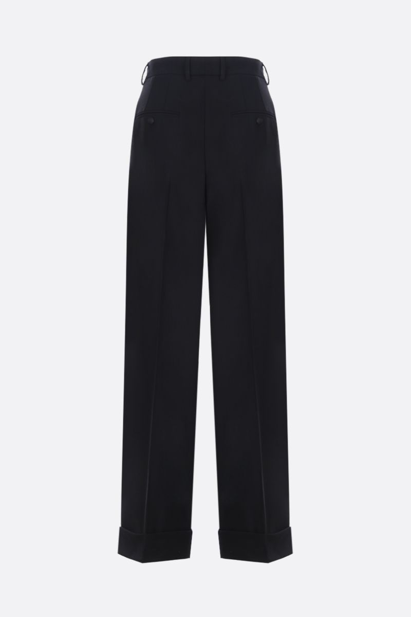 DOLCE & GABBANA: stretch gabardine wide-leg pants Color Black_2