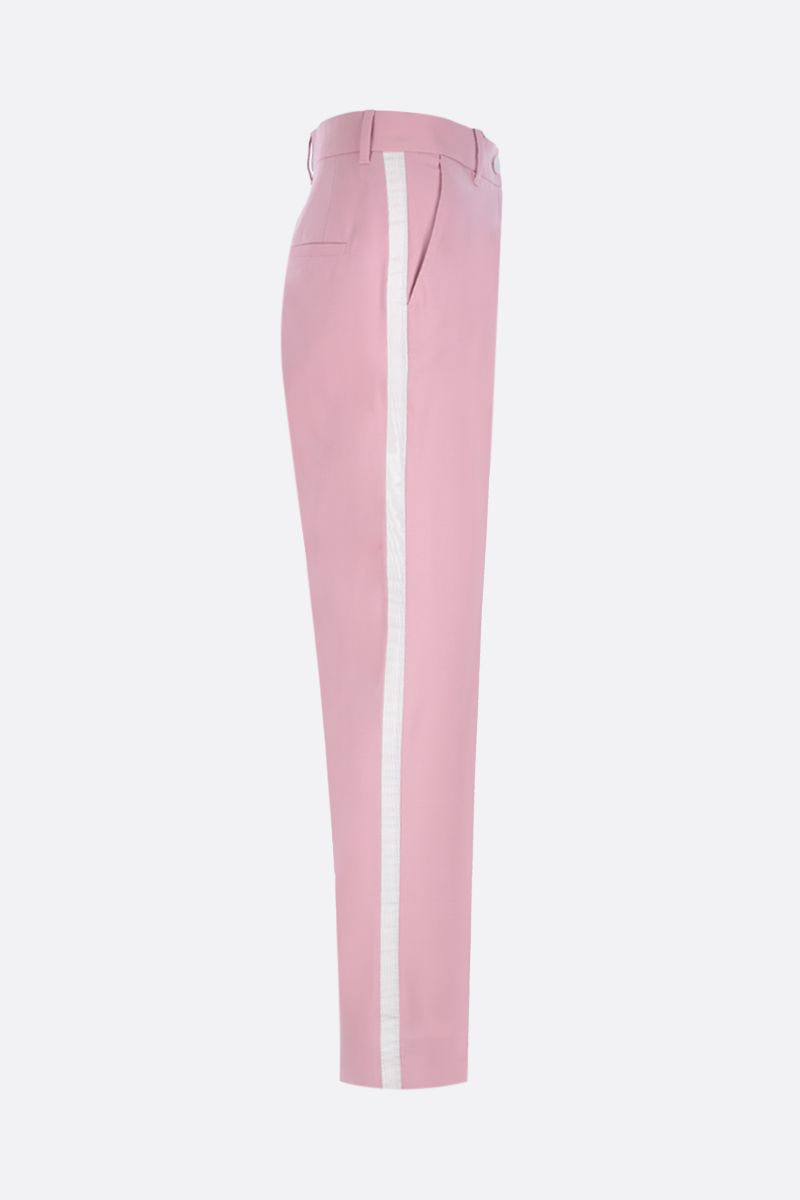 DOLCE & GABBANA: tuxedo pants in wool silk blend Color Pink_2