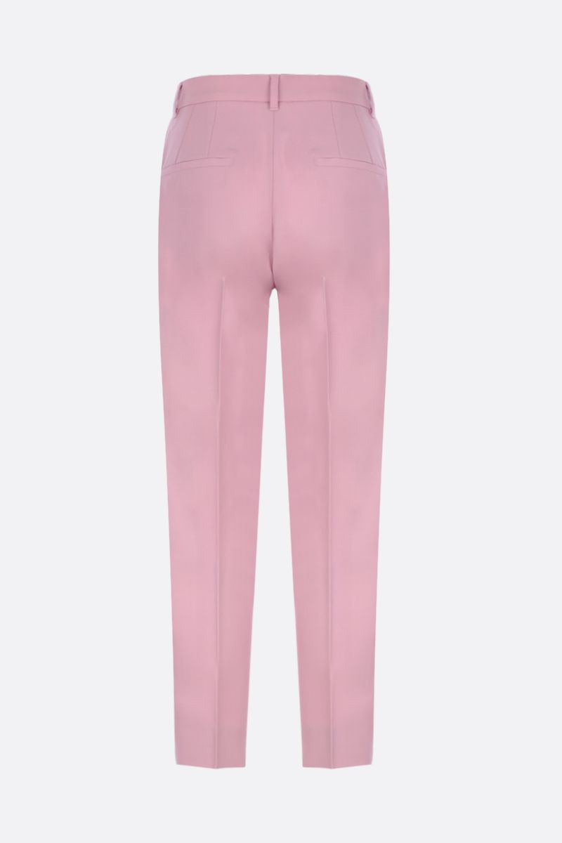 DOLCE & GABBANA: tuxedo pants in wool silk blend Color Pink_3