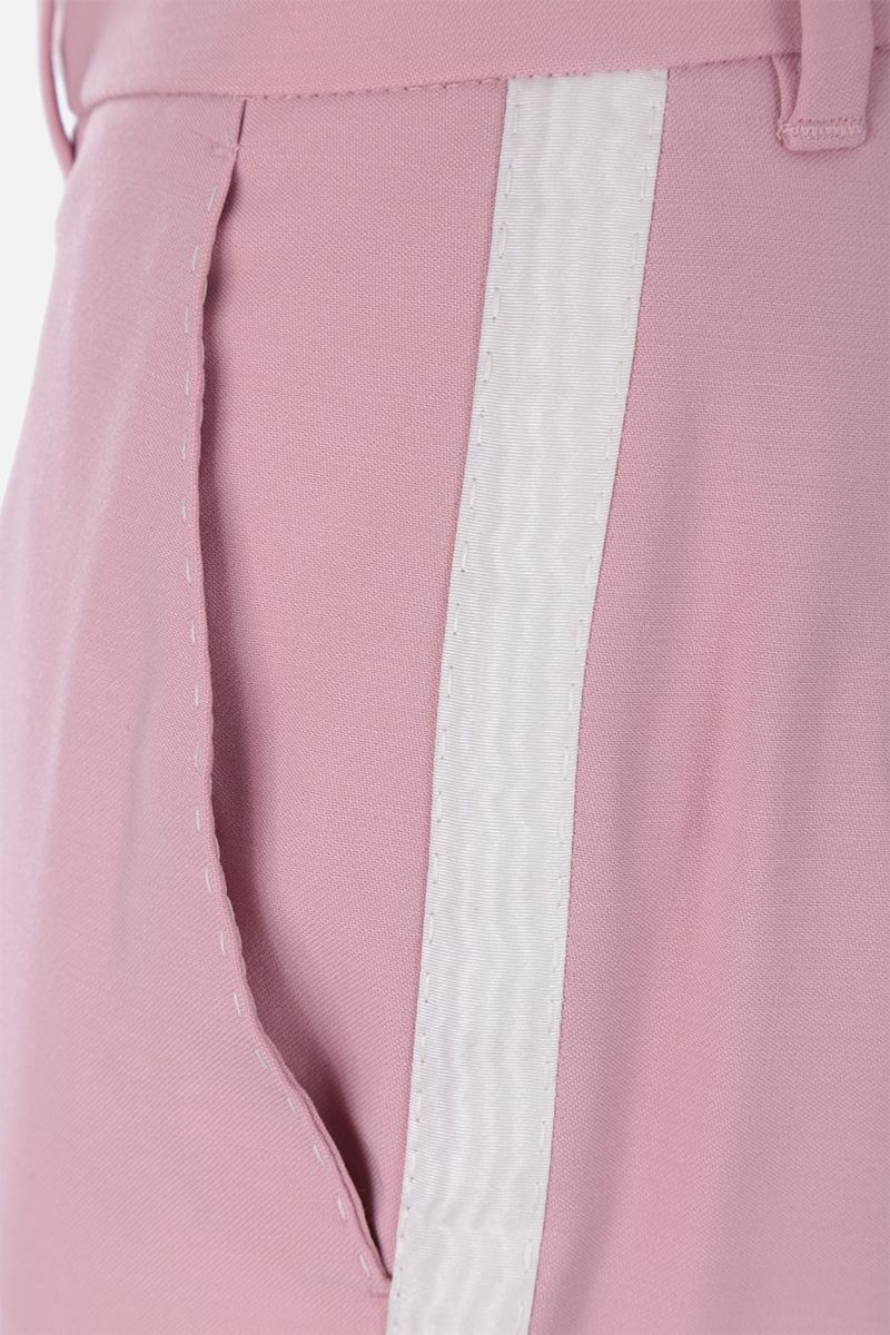 DOLCE & GABBANA: tuxedo pants in wool silk blend Color Pink_4