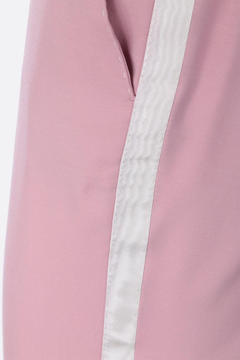 DOLCE & GABBANA: tuxedo pants in wool silk blend Color Pink_5