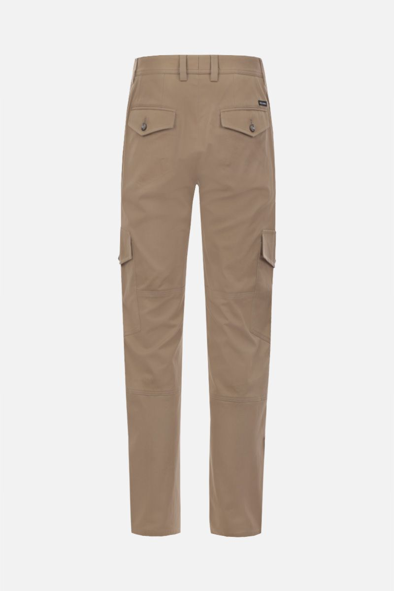 DOLCE & GABBANA: stretch gabardine cargo pants Color Neutral_2