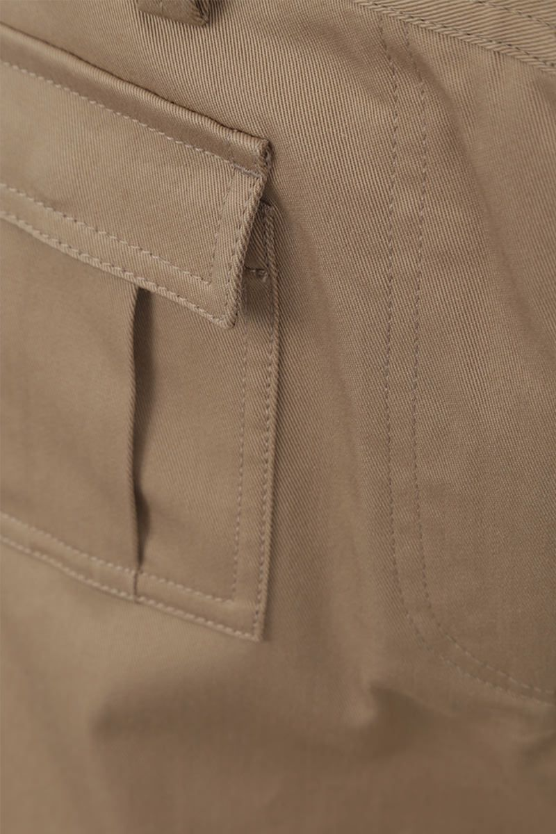 DOLCE & GABBANA: stretch gabardine cargo pants Color Neutral_3