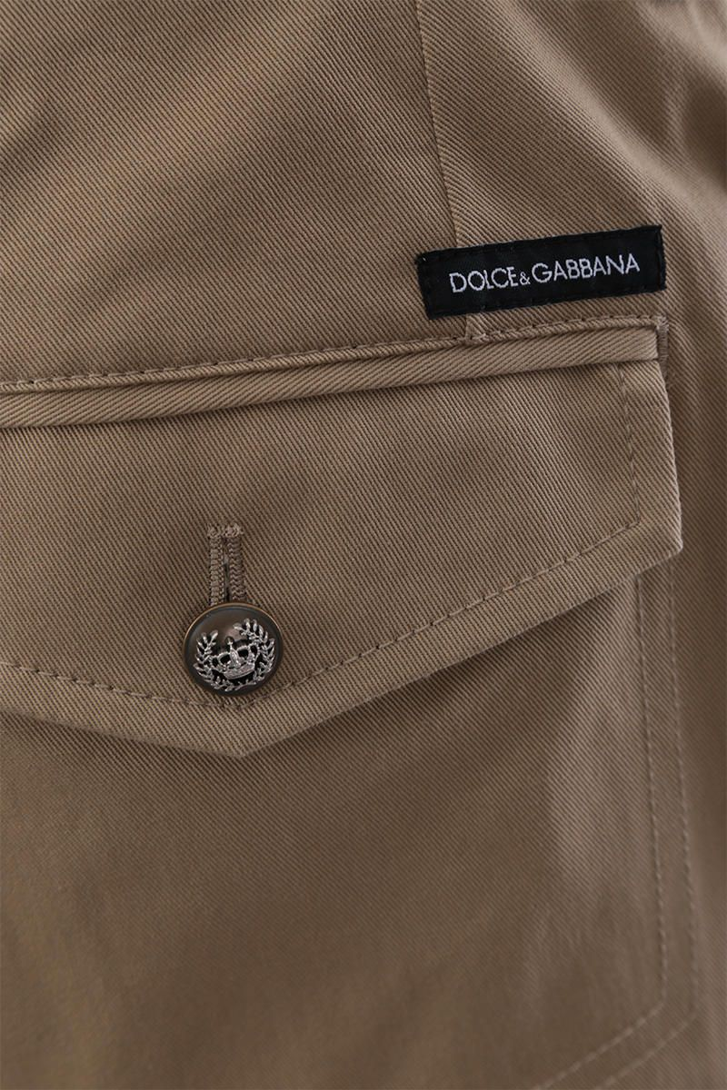 DOLCE & GABBANA: stretch gabardine cargo pants Color Neutral_4