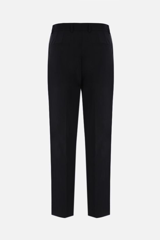 DOLCE & GABBANA: DG logo-detailed stretch wool pants Color Black_2