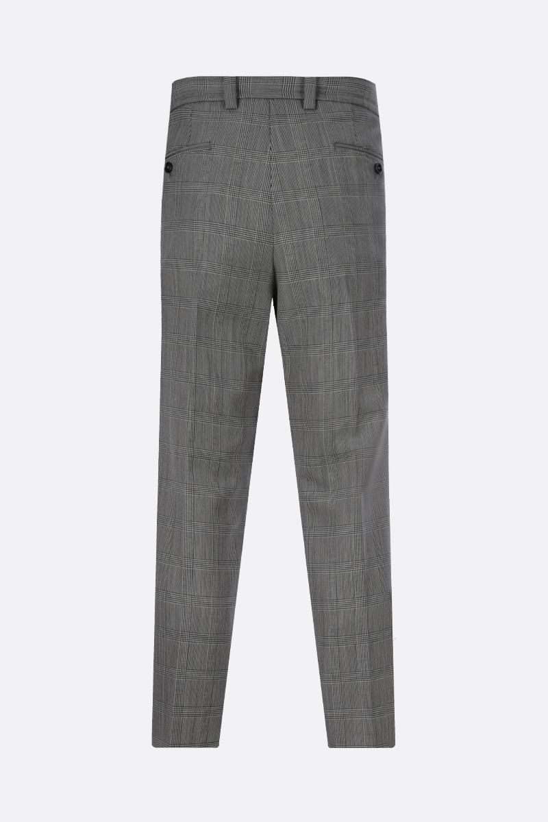 DOLCE & GABBANA: wool mohair blend darted pants Color White_2