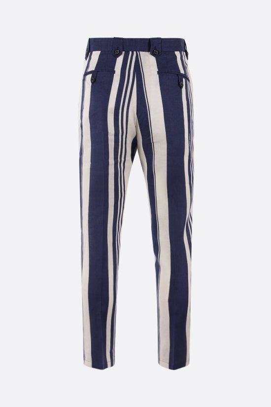 DOLCE & GABBANA: striped linen chino pants Color Multicolor_2