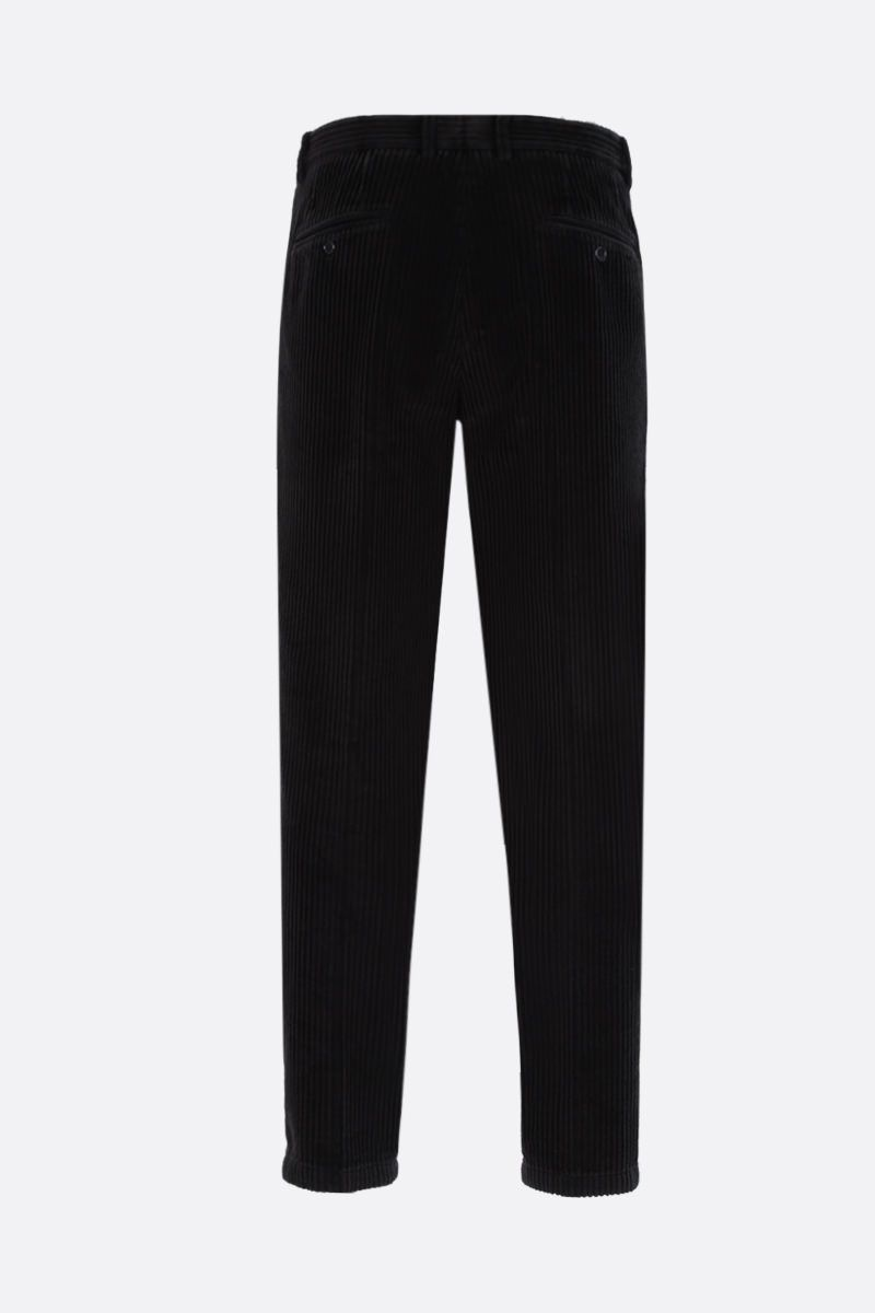 DOLCE & GABBANA: corduroy darted pants Color Black_2