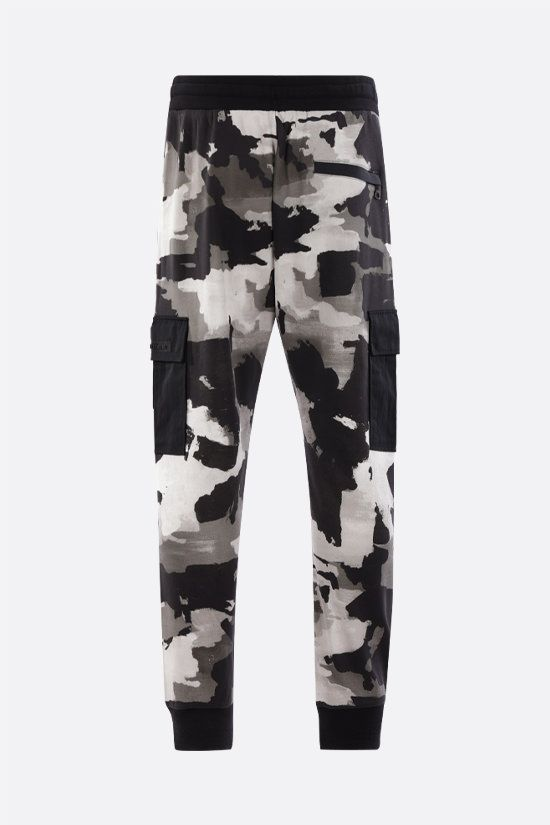 DOLCE & GABBANA: camouflage print cotton blend joggers Color Multicolor_2
