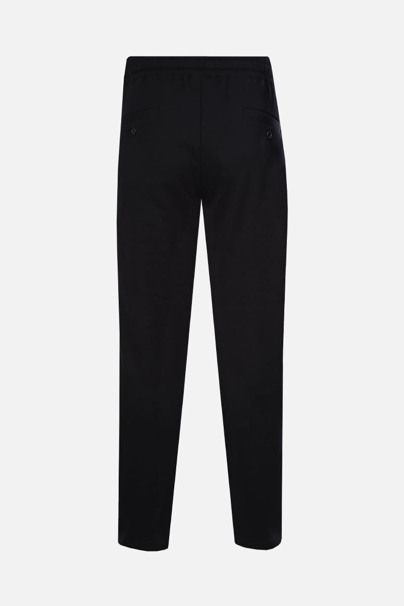 DOLCE & GABBANA: DG Crown print cotton joggers Color Black_2