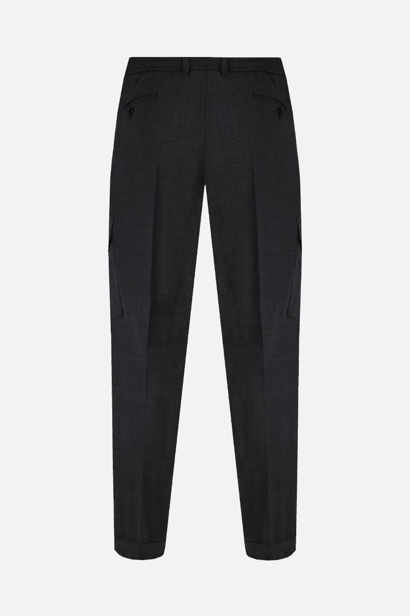 DOLCE & GABBANA: wool blend cargo pants Color Grey_2