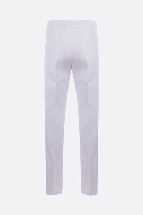 DOLCE & GABBANA: stretch cotton slim-fit pants Color White_2